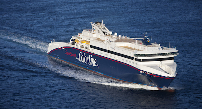A sailing Colorline ferry.